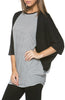 Oversized 3/4 Batwing Sleeve Tunic Top - BodiLove | 30% Off First Order  - 45