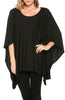Lightweight Pull Over Knit Poncho Tunic Top - BodiLove | 30% Off First Order  - 2