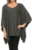 Lightweight Pull Over Knit Poncho Tunic Top - BodiLove | 30% Off First Order  - 4