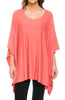 Lightweight Pull Over Knit Poncho Tunic Top - BodiLove | 30% Off First Order  - 6