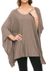 Lightweight Pull Over Knit Poncho Tunic Top - BodiLove | 30% Off First Order  - 3