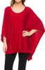Lightweight Pull Over Knit Poncho Tunic Top - BodiLove | 30% Off First Order  - 11