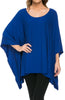 Lightweight Pull Over Knit Poncho Tunic Top - BodiLove | 30% Off First Order  - 10
