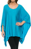 Lightweight Pull Over Knit Poncho Tunic Top - BodiLove | 30% Off First Order  - 12