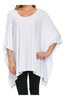 Lightweight Pull Over Knit Poncho Tunic Top - BodiLove | 30% Off First Order  - 13