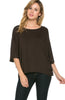 3/4 Kimono Sleeve Hi-Low Knit Top - BodiLove | 30% Off First Order  - 8