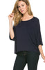 3/4 Kimono Sleeve Hi-Low Knit Top - BodiLove | 30% Off First Order  - 26