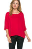 3/4 Kimono Sleeve Hi-Low Knit Top - BodiLove | 30% Off First Order  - 29