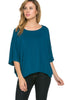 3/4 Kimono Sleeve Hi-Low Knit Top - BodiLove | 30% Off First Order  - 36