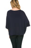 3/4 Kimono Sleeve Hi-Low Knit Top - BodiLove | 30% Off First Order  - 27