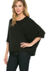 3/4 Kimono Sleeve Hi-Low Knit Top - BodiLove | 30% Off First Order  - 3