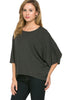 3/4 Kimono Sleeve Hi-Low Knit Top - BodiLove | 30% Off First Order  - 7