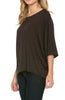 3/4 Kimono Sleeve Hi-Low Knit Top - BodiLove | 30% Off First Order  - 10