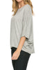 3/4 Kimono Sleeve Hi-Low Knit Top - BodiLove | 30% Off First Order  - 16