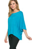 3/4 Kimono Sleeve Hi-Low Knit Top - BodiLove | 30% Off First Order  - 41