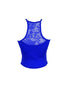 Spaghetti Strap Crop Top W/ Lace Back Yoke | 30% Off First Order | Royal Blue