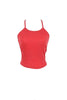 Spaghetti Strap Crop Top W/ Lace Back Yoke | 30% Off First Order | Red