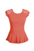 Lace Cap Sleeve Peplum Top | 30% Off First Order | Orange