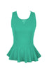 Sleeveless Peplum Top W/ Sheer Lace Back | 30% Off First Order | Mint