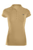 Cap Sleeve 5 Button Collared Polo Shirt | 30% Off First Order | Light Brown