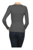 Long Sleeve Thermal Top W/ Crochet Lace Trim | 30% Off First Order | Dark Gray