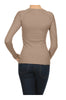 Long Sleeve Thermal Top W/ Crochet Lace Trim | 30% Off First Order | Light Brown