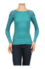 Long Sleeve Thermal Top W/ Crochet Lace Trim | 30% Off First Order | Turquoise