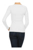 Long Sleeve Thermal Top W/ Crochet Lace Trim | 30% Off First Order | White
