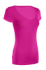 Casual Cap Sleeve Fitted V-Neck T-Shirt | 30% Off First Order | Fuchsia