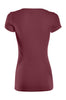 Casual Cap Sleeve Fitted V-Neck T-Shirt | 30% Off First Order | Burgundy