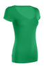 Casual Cap Sleeve Fitted V-Neck T-Shirt | 30% Off First Order | Green