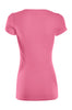 Casual Cap Sleeve Fitted V-Neck T-Shirt | 30% Off First Order | Coral