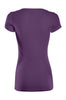 Casual Cap Sleeve Fitted V-Neck T-Shirt | 30% Off First Order | Purple