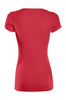 Casual Cap Sleeve Fitted V-Neck T-Shirt | 30% Off First Order | Red