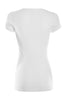 Casual Cap Sleeve Fitted V-Neck T-Shirt | 30% Off First Order | White
