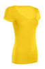 Casual Cap Sleeve Fitted V-Neck T-Shirt | 30% Off First Order | Yellow