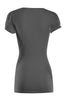 Short Sleeve Wrap Front Knit Top | 30% Off First Order | Charcoal