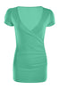 Short Sleeve Wrap Front Knit Top | 30% Off First Order | Mint