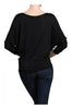 3/4 Dolman Sleeve Boat Neck Top - BodiLove | 30% Off First Order  - 3