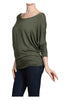 3/4 Dolman Sleeve Boat Neck Top - BodiLove | 30% Off First Order  - 5