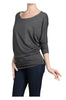 3/4 Dolman Sleeve Boat Neck Top - BodiLove | 30% Off First Order  - 8