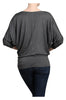3/4 Dolman Sleeve Boat Neck Top - BodiLove | 30% Off First Order  - 9