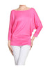 3/4 Dolman Sleeve Boat Neck Top - BodiLove | 30% Off First Order  - 11