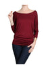 3/4 Dolman Sleeve Boat Neck Top - BodiLove | 30% Off First Order  - 14