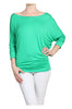 3/4 Dolman Sleeve Boat Neck Top - BodiLove | 30% Off First Order  - 17