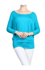 3/4 Dolman Sleeve Boat Neck Top - BodiLove | 30% Off First Order  - 19