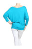 3/4 Dolman Sleeve Boat Neck Top - BodiLove | 30% Off First Order  - 20