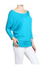 3/4 Dolman Sleeve Boat Neck Top - BodiLove | 30% Off First Order  - 21