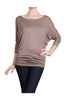 3/4 Dolman Sleeve Boat Neck Top - BodiLove | 30% Off First Order  - 23