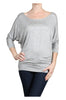 3/4 Dolman Sleeve Boat Neck Top - BodiLove | 30% Off First Order  - 28